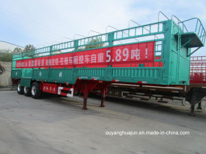 L: 13 Meters H; 1.9 Meters Super Light Van Type Container Semi Trailer pictures & photos
