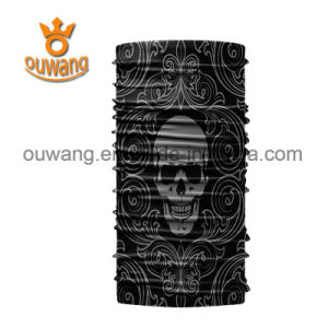 Black Skull Face Tube Mask Neck Gaiter Dust Shield Seamless Bandana pictures & photos