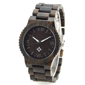 Black Fashion Business Wooden Wrist Watch pictures & photos