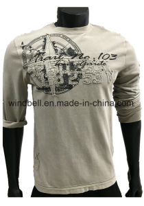 Hot Saler Vintage Garment Dyeing Pullover for Men with Embroidery pictures & photos