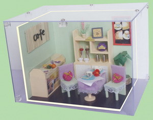 Mini DIY Furniture Wooden Doll House Bar pictures & photos