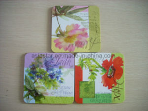 Full Color Flower Printed Cork Coaster (CC29) pictures & photos