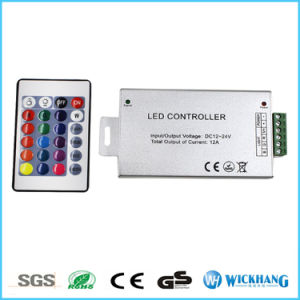 24 Keys LED Controller LED IR Remote Dimmer DC12V 12A for RGB SMD LED Strip pictures & photos