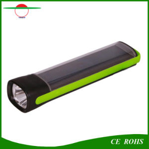 Hot Sale 1W High Power Solar Power Bank Torch Light Emergency Solar Flashlight for Mobile Charging pictures & photos