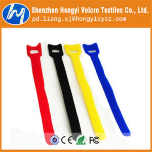 SGS Certified Nylon Self-Locking Velcro Cable Tie pictures & photos