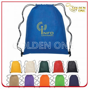 High Quality Durable Printed Nylon Drawstring Backpack pictures & photos