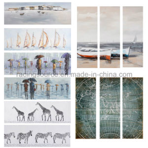Wall Art Canvas Printed Coastal Senary Oil Canvas Painting pictures & photos