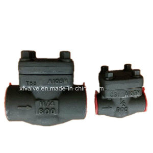 API602 Forged Steel A105 Thread End NPT Lift Check Valve pictures & photos