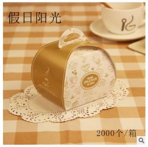 Cheap Custom Cupcake Handle Box Cake Boxes Wholesale pictures & photos