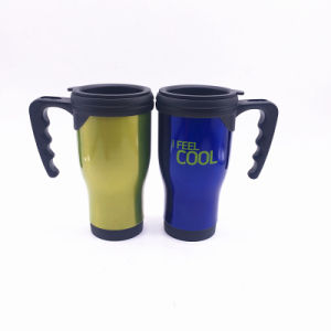Auto Mug with Handle Stainless Steel Outer and Plastic Inner (SH-SC65) pictures & photos