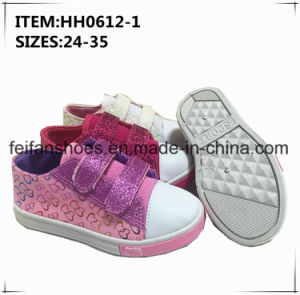 2017 Children Girl Injection Canvas Shoes (HH0612-1) pictures & photos