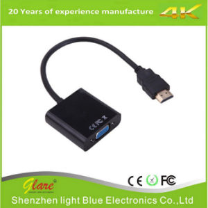 Full HD 1080P HDMI to VGA Cable Connector pictures & photos