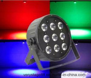 LED Flat PAR 9PCS 15W Rgbwauv 6 in 1 LED PAR Light pictures & photos