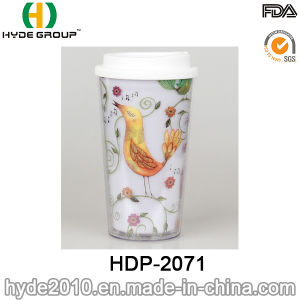 16oz Customized BPA Free Double Wall Plastic Coffee Mug (HDP-2071) pictures & photos