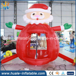 Oxford Cloth Inflatable Christmas Toy, Inflatable Santa Claus Money Booth for Sale pictures & photos