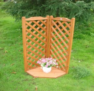 Cheap Garden Tool Flower House Plant Rack Wooden Flower Stand pictures & photos