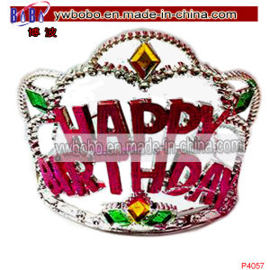 Birthday Hair Decoration Plastic Crown Tiara Hair Jewelry (P4057) pictures & photos