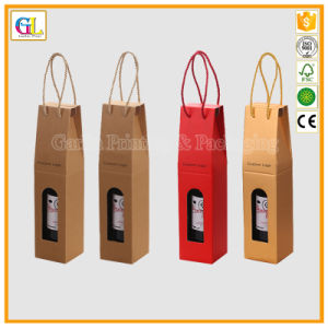2017 Design Luxury Single Bottle Red Paper Cardboard Wine pictures & photos