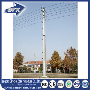 Galvanized Steel Communication Tower/Round Steel Transmission Tubular Tower pictures & photos