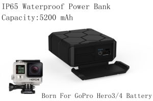 Battery Charger for Gopro Hero3/4 Accessories Rechargeable Power Bank 5200mAh pictures & photos