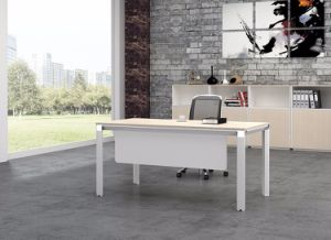White Customized Metal Steel Office Staff Desk Frame with Ht08-1 pictures & photos