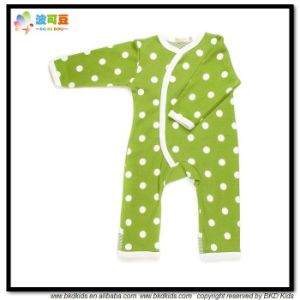 Dots Printing Baby Apparel Green Color Babies Jumpsuits pictures & photos