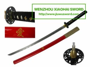 Handmade Katana Red Katana Sword HK094 pictures & photos