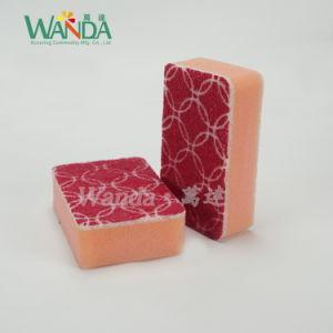 Plenty Foam Round Corner Sponge Scourer Cleaning Sponge with Printing pictures & photos