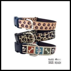 Paw Pattern Printed Ribbon Nylon Large Pet Dog Collar pictures & photos