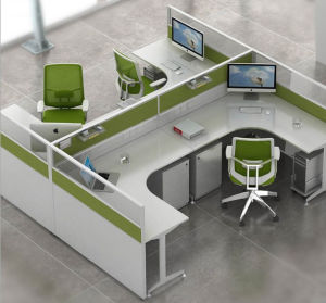 China Aluminum Glass Partition Wall Cluster Staff Workstation