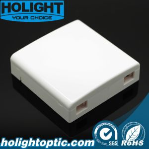 2 Core Fiber Optic Wall Outlet 86 mm Faceplate pictures & photos