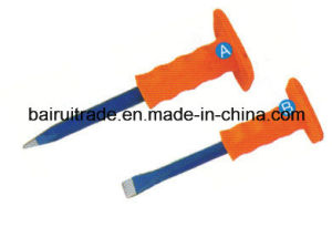 16*250 Flat Cold Chisel with Rubber Grip pictures & photos