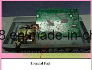Ultra Light Thermal Silicone Pad Conductive Pad Heat Sink Pad 4W for Laptop pictures & photos