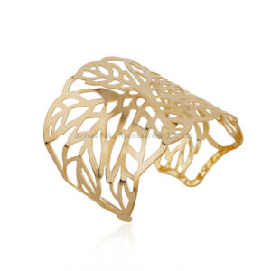 Fashion Wide Cuff Bracelet Gold Plated Bangles Jewelry pictures & photos