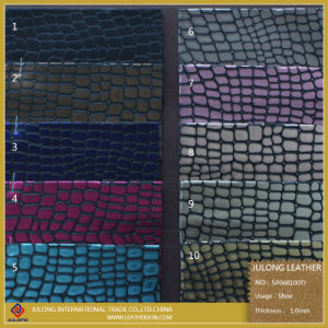 Glitter Popular Patent/Mirror PU Lace Artificial Fabric, Synthetic Fabric & Garment Fabric (SP068100TJ) pictures & photos