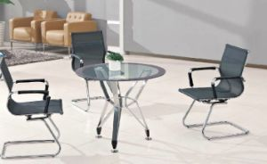 Round Shape Glass Conference Deskl/Table (HX-GL068) pictures & photos