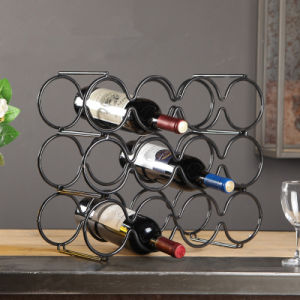 Glazing 12 Bottles Metal Countertop Wire Wine Racks for Sale pictures & photos
