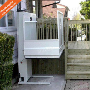 Outdoor Disabled Man Vertical Platform Wheelchair Lift pictures & photos