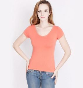 Bamboo Fiber Women′s T-Shirt for Ladies pictures & photos