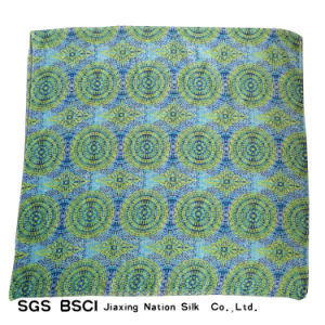 Women Green Polyester Scarf Beach Wear