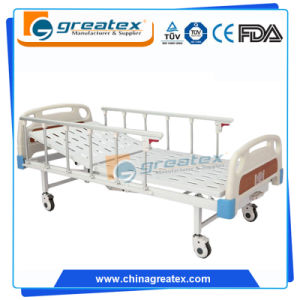 One Crank Simple Hospital Beds with 6-Rank Al-Alloy Handrail (GT-BM204)