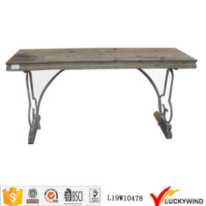 Countryside Retro Wood Vintage Trestle Table pictures & photos