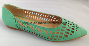 Lady Leather Shoe Laser Pointed Comfortable Flat pictures & photos