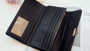 Simple Retro Ladies Lock Wallet Black (BDMC147) pictures & photos
