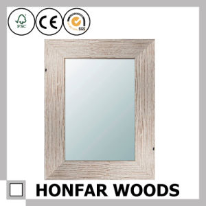 Brown Finished Wall Mirror in Wooden Frame for Bathroom pictures & photos