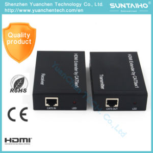 1080P Over Cat5e/CAT6 (TCP/IP) 1.4V HDMI Extender pictures & photos