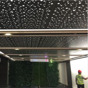 High Quality Special Perforated Ceiling with Soundproof Material pictures & photos