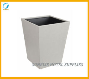 Leather Rubbish Waste Bin with Metal Inner Bin pictures & photos