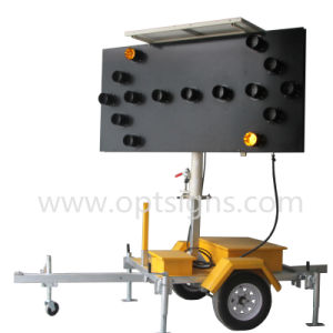 2017 New Optraffic ODM Australian Standard Trailer Mounted Arrow Boards C Size with Hydraulic Lifting pictures & photos