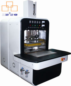 Seamless Shoe Making High Frequency Cutting Fusion Embossing Machine for PU/TPU/Mesh pictures & photos